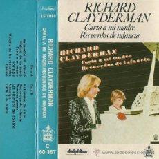 Casetes antiguos: RICHARD CLAYDERMAN --- CARTA A MI MADRE.- RECUERDOS DE INFANCIA. Lote 25425133
