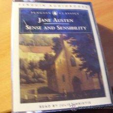 Casetes antiguos: JANE AUSTEN & SENSE AND SENSIBILITY ( PENGUIN AUDIOBOOKS ) 4 CASETES (CAS6). Lote 28157358