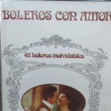 Alte Kassetten - BOLEROS CON AMOR - 42 BOLEROS INOLVIDABLES / BESAME MUCHO / QUIZAS... CASE-6100 - 28295999