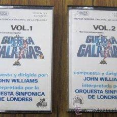 Casetes antiguos: VOL 1 Y VOL 2,.. LA GUERRA DE LAS GALAXIAS .. BANDA SONORA, COMPLETO, 1977,. Lote 30576444