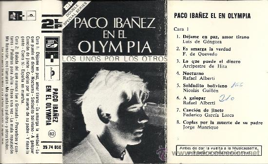 Paco Ibañez En El Olympia De París Doble Caset Sold Through Direct Sale 31844384