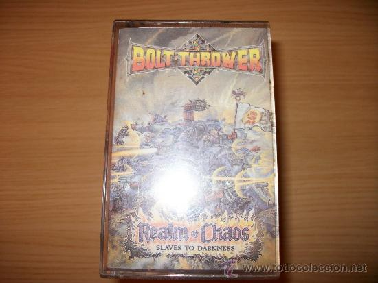 CASSETTE BOLT THROWER - REALM OF CHAOS - SLAVES TO DARKNESS - EARACHE 1989 - GAMES WORKSHOP - DEATH (Música - Casetes)