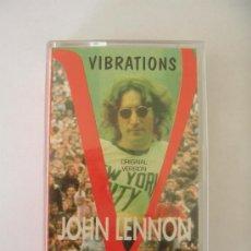 Casetes antiguos: BEATLES JOHN LENNON VIBRATIONS LIVE IN CONCERT NEW YORK 1971 CASSETTE. Lote 33572472