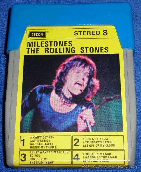 MILESTONES - THE ROLLING STONES - ESTEREO 8 - DECCA - 8 PISTAS (Música - Casetes)