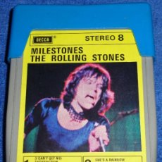Casetes antiguos: MILESTONES - THE ROLLING STONES - ESTEREO 8 - DECCA - 8 PISTAS. Lote 158906958