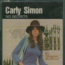 Casetes antiguos: CARLY SIMON - NO SECRETS ¡¡PRECINTADO!! A ESTRENAR (CASSETTE) ESPAÑA. Lote 35983519