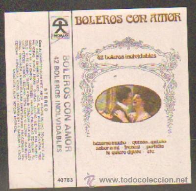 BOLEROS CON AMOR. 42 BOLEROS INOLVIDABLES CASE-10820 (Música - Casetes)