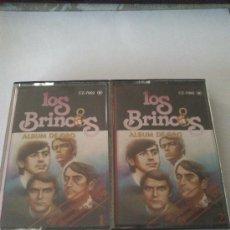 Casetes antiguos: CASETTE DOBLE DE LOS BRINCOS- ALBUM DE ORO ANUNCIADO EN TV. Lote 37011172