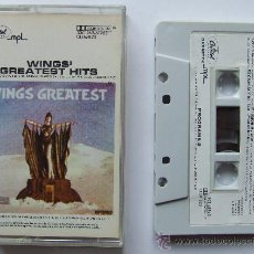 Casetes antiguos: BEATLES CINTA CASETE WINGS GREATEST HITS CASSETTE BEATLES MEXICO. Lote 71184463