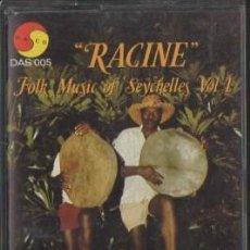 Cassetes antigas: RACINE. FOLK MUSIC OF SEYCHELLES. VOL.1. CASE-11219. Lote 258243230
