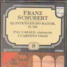 Casetes antiguos: FRANZ SCHUBERT. ENCICLOPEDIA SALVAT DE LOS GRANDES COMPOSITORES. Nº8. CASE-11279. Lote 179949093