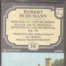 Casetes antiguos: ROBERT SCHUMANN. ENCICLOPEDIA SALVAT DE LOS GRANDES COMPOSITORES. Nº16. CASE-11287. Lote 179949211