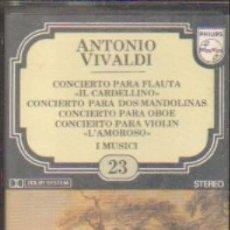 Casetes antiguos: ANTONIO VIVALDI. ENCICLOPEDIA SALVAT DE LOS GRANDES COMPOSITORES. Nº23. CASE-11293. Lote 179949235