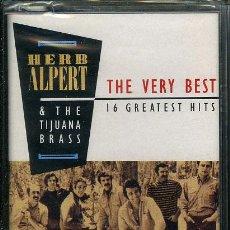 Casetes antiguos: HERB ALPERT & THE TIJUANA BRASS - THE VERY BEST ¡¡PRECINTADO!! A ESTRENAR (CASSETTE) ESPAÑA. Lote 37979676