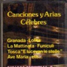 Casetes antiguos: CASETE - CANCIONES Y ARIAS CÉLEBRES - RICARDO COSINELLI - EDA. Lote 38131588
