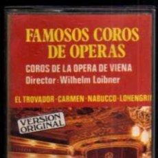 Casetes antiguos: CASETE - FAMOSOS COROS DE OPERAS - COROS DE LA ÓPERA DE VIENA - HELIX. Lote 38178443