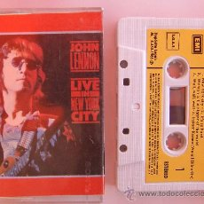 Casetes antiguos: BEATLES JOHN LENNON CINTA CASETE LIVE IN NEW YORK CITY ESPAÑA. Lote 39042595