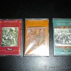 Casetes antiguos: 3 CINTAS CASSETTE PRECINTADO CANTOS Y BAILES DE ASTURIAS /SON NEL ROMANCERO 1 Y 2 / SON NES DANCES 1. Lote 83193680