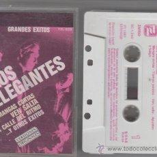 Casetes antiguos: LOS ELEGANTES CASSETTE GRANDES ÉXITOS 1987 ZAFIRO. Lote 39272735