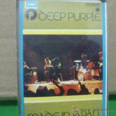 Casetes antiguos: DEEP PURPLE--------------MADE IN JAPAN. Lote 39291677