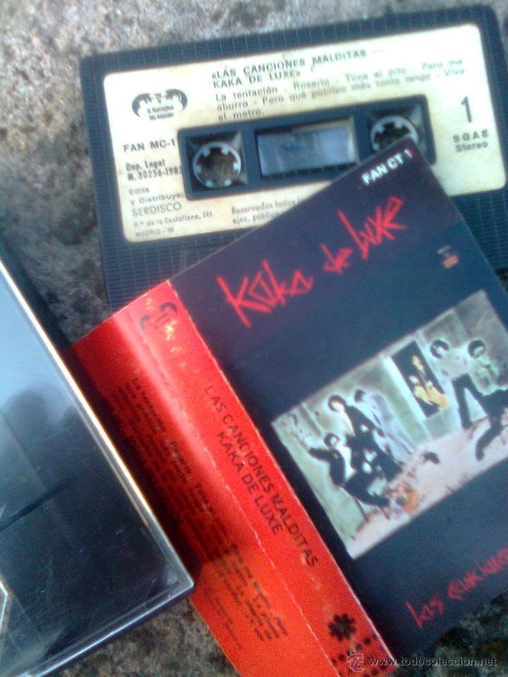 ¡Firmado por Fernando Marquez!- kaka De Luxe -Las canciones Malditas (Fantasma dl paraiso,1983)- ver segunda mano