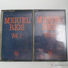 Casetes antiguos: MIGUEL RIOS VOL.1 VOL.2 1982 ONDINA CINTAS CONCIERTOS DE ROCK Y AMOR Y SUS ÉXITOS. Lote 39353642