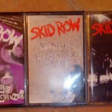 Casetes antiguos: SKID ROW - METALICA - JUDAS PRIEST. Lote 39494133