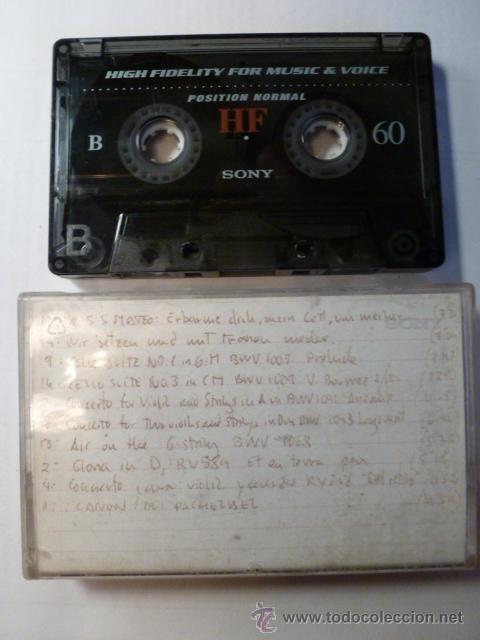 CINTA DE CASETE GRABADA SONY HF 60 (Música - Casetes)