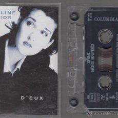 Casetes antiguos: CELINE DION CASSETTE D'EUX 1995 SONY. Lote 40295495