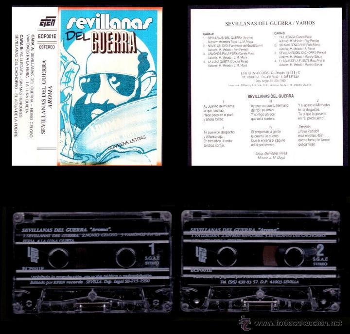 AROMA - SEVILLANAS DEL GUERRA - SPAIN CASSETTE EFEN 1990 - EXCELENTE / EXCELLENT (Música - Casetes)