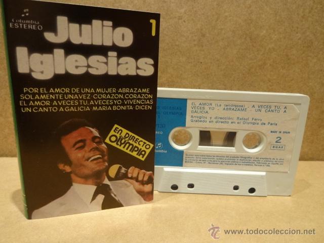 JULIO IGLESIAS. EN DIRECTO DESDE EL OLYMPIA. VOL. 1 MC - COLUMBIA 1983. COMO NUEVO. (Música - Casetes)