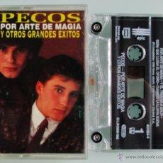 Casetes antiguos: PECOS - POR ARTE DE MAGIA Y OTROS EXITOS - SONY 1995 CASSETTE. Lote 80550423