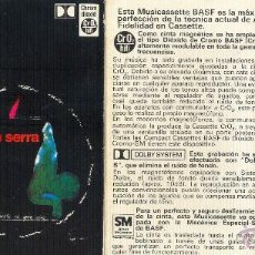 Casetes antiguos: PI DE LA SERRA - NO ÉS POSSIBLE EL QUE VISC - CASETE BASF 1974. Lote 42162831