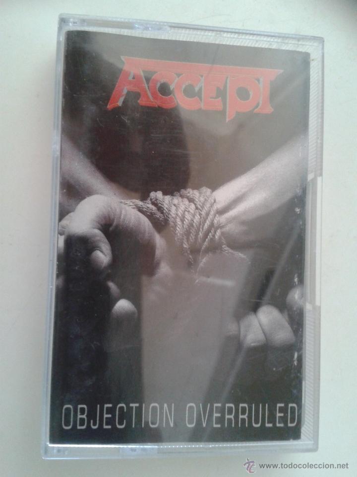 ACCEPT - OBJECTION OVERRULED - MUY DIFICIL Y ESCASA (Música - Casetes)