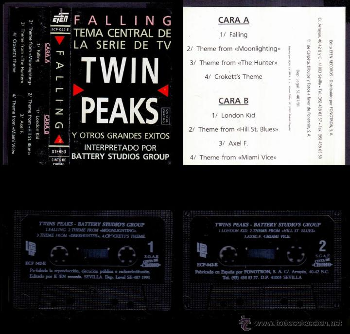 BATTERY STUDIOS'S GROUP - TWIN PEAKS - SPAIN CASSETTE EFEN 1991 - FALLING TV (Música - Casetes)