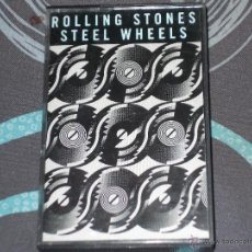 Casetes antiguos: THE ROLLING STONES - STEEL WHEELS - CASETE. Lote 45392215