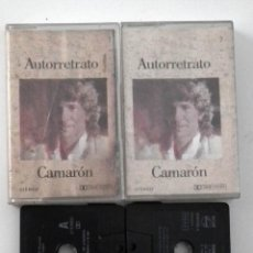 Casetes antiguos: DOBLE CINTA CASSETTE - CAMARON - AUTORRETRATO. Lote 45456669