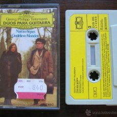Casetes antiguos: NARCISO YEPES Y GODELIEVE MONDEN: DUOS PARA GUITARRA DE TELEMANN. DEUTSCHE 1981. Lote 75705379