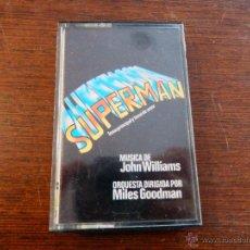 Cassette antiche: SUPERMAN TEMA PRINCIPAL TEMA DE AMOR ORQUESTA MILES GOODMAN MUSICA JOHN WILLIAMS TRITON 79 CHI. Lote 46464740