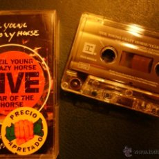 Casetes antiguos: NEIL YOUNG - CRAZY HORSE - YEAR OF THE HORSE CASSETTE CASETE CASETTE. Lote 47719602