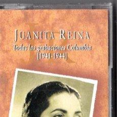 Casetes antiguos: JUANITA REINA - TODAS LAS GRABACIONES COLUMBIA 1941 1944 - CASETE PRECINTADO. Lote 47989612