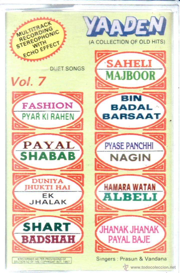 CASETE YAADEN VOL7 A COLLECTION OF OLD HITS
