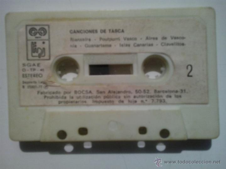 CINTA DE CASSETE -CANCIONES DE TASCA (Música - Casetes)