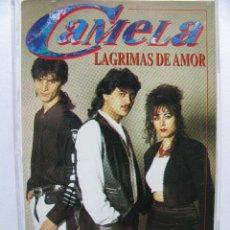 Casetes antiguos: CAMELA. LAGRIMAS DE AMOR. 8 TEMAS. 1995. DISCOS COCK. 40-2098. Lote 50046397