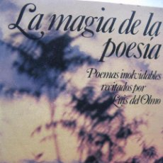 Casetes antiguos: LA MAGIA DE LA POESIA. POEMAS INOLVIDABLES RECITADOS POR LUIS DEL OLMO. 2 CASETTES. ARIOLA 1983. Lote 48883383