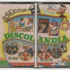 Cassetes antigas: PARCHIS · REGALIZ · TITO Y TITA · GRUPO NINS - DISCOLANDIA (DOBLE CASSETTE BELTER 1980) PRECINTADO. Lote 97384699