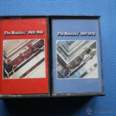 Casetes antiguos: THE BEATLES - 1962 - 1966 / 1967 - 1970 - 2 CASETES CASSETTES DOBLES - 54 TEMAS VER FOTOS. Lote 49898761