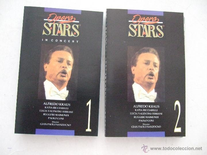 CINTA CASETE 1 Y 2 - OPERA STARS - ALFREDO KRAUS - 1997 - 2 CINTAS - 9 TEMAS CADA UNO (Música - Casetes)