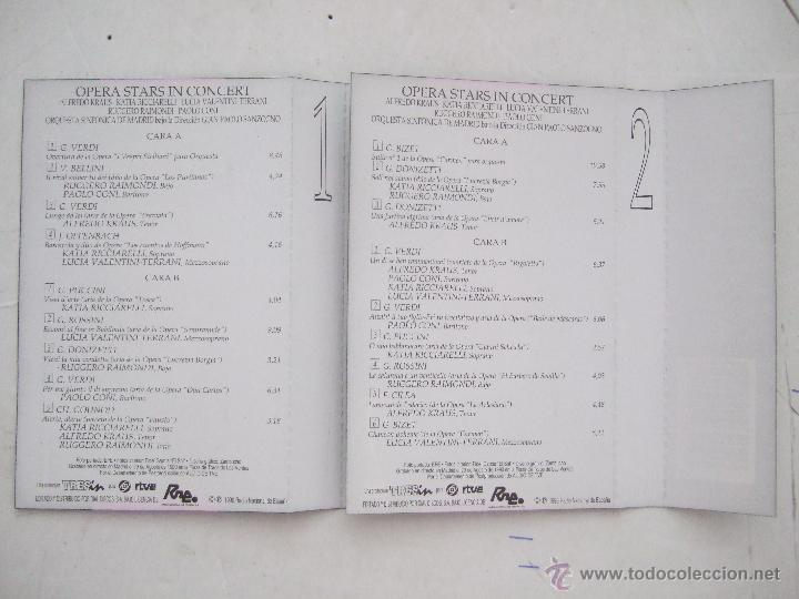 Casetes antiguos: CINTA CASETE 1 Y 2 - OPERA STARS - ALFREDO KRAUS - 1997 - 2 CINTAS - 9 TEMAS CADA UNO - Foto 2 - 49910606