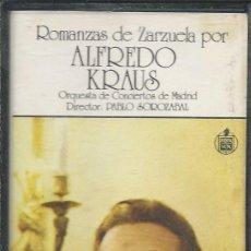 Casetes antiguos: ROMANZA DE ZARZUELA POR ALFREDO KRAUS - CASETES SEGUNDA MANO. Lote 50093385
